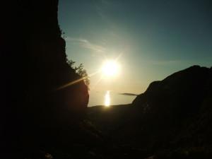 Solnedgang Harbakkhula